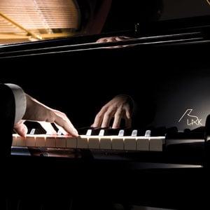 Playing Kawai Grand Piano