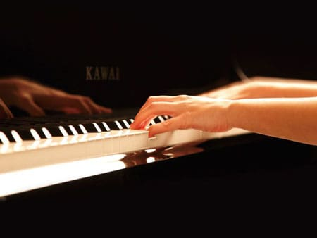 Playing Kawai Upright Piano